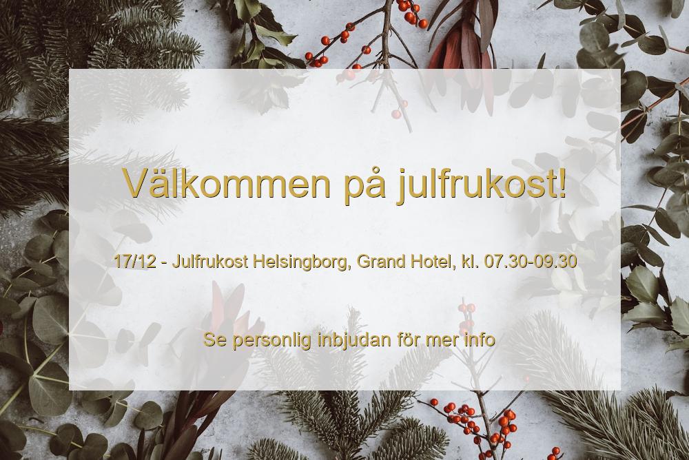 Te Crea care bjuder in anställda till julfrukost i Helsingborg